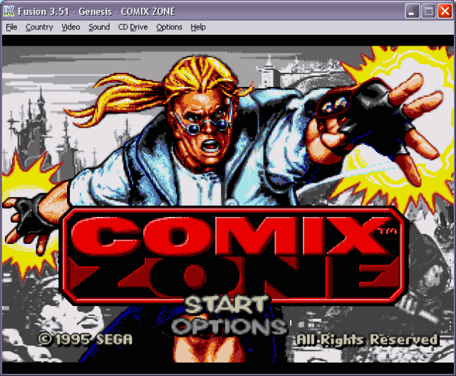 Comix Zone - SMD ( Kega Fusion Version )