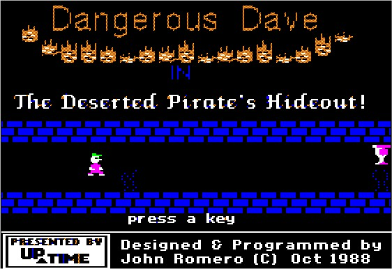 The original Apple II Dangerous Dave