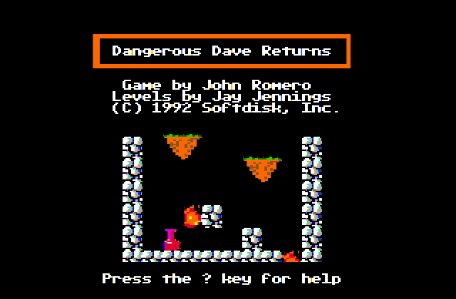 Dangeruos Dave Returns ( Apple II )