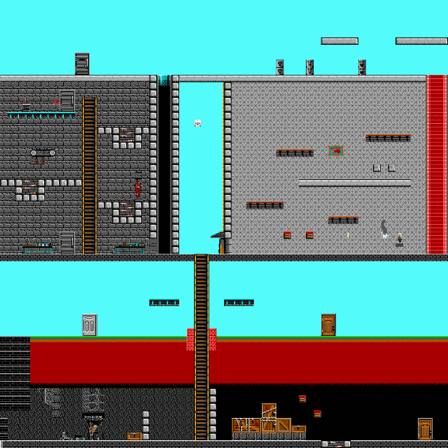 Full screenshots of the levels for Dangerous Dave 2 – Addon