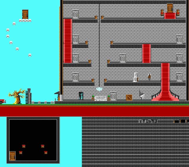 Full screenshot of the level for Dangerous Dave 2 –