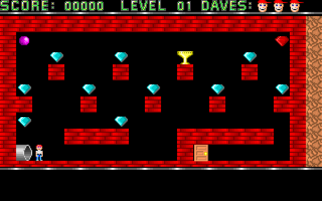 Dangerous Dave (First level) - HTML5/Javascript