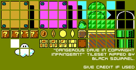 Dangerous Dave in Copyright Infringement (PC) Tileset